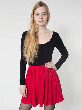 Piqué Full Woven Skirt | American Apparel