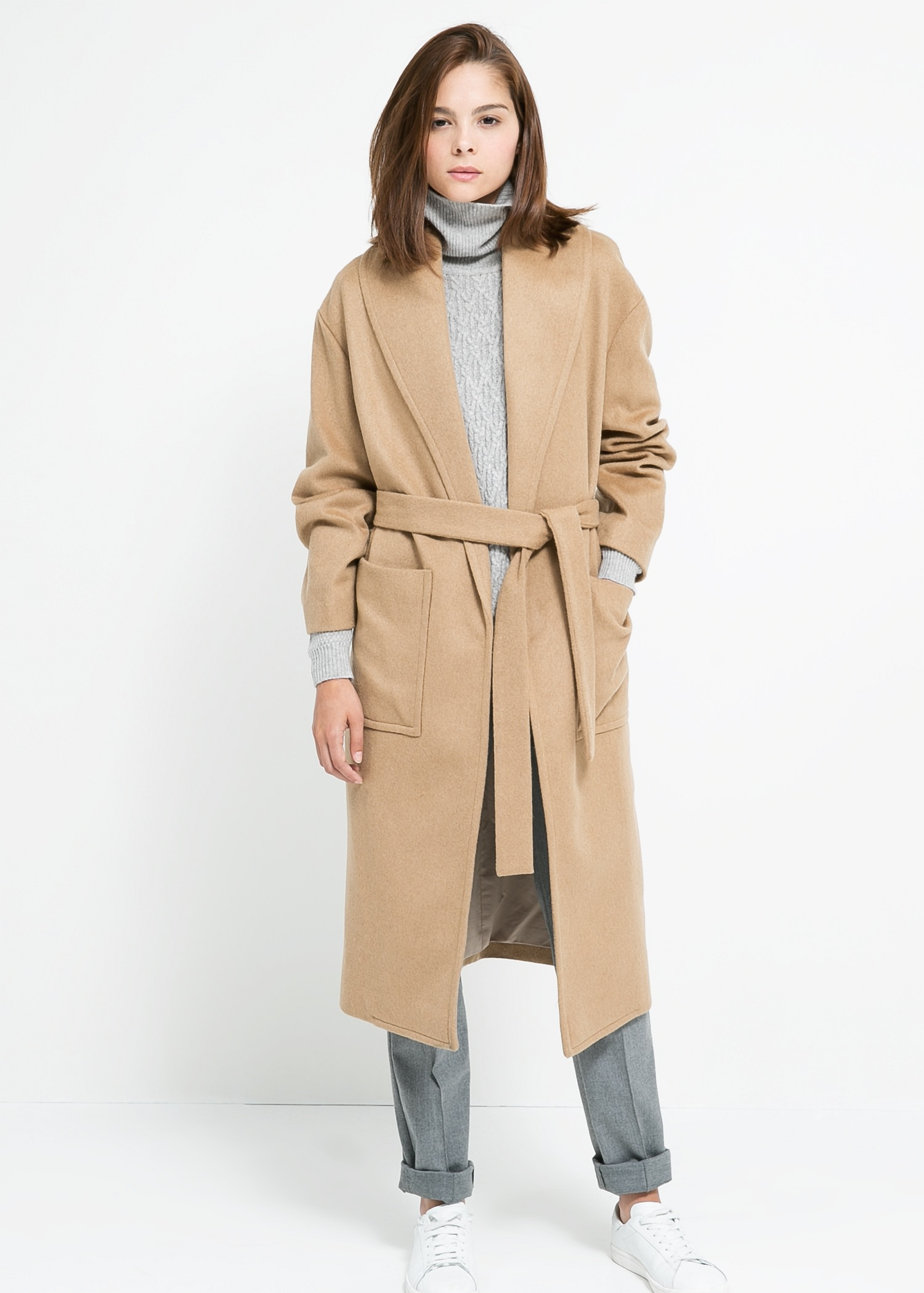 wool-blend coat - Women | MANGO
