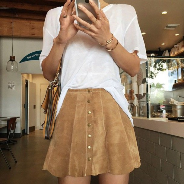 Skirt: warehouse, a line skirt, camel, fall skirt, camel skirt ...