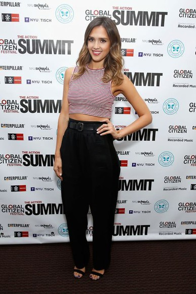 jessica alba top crop tops