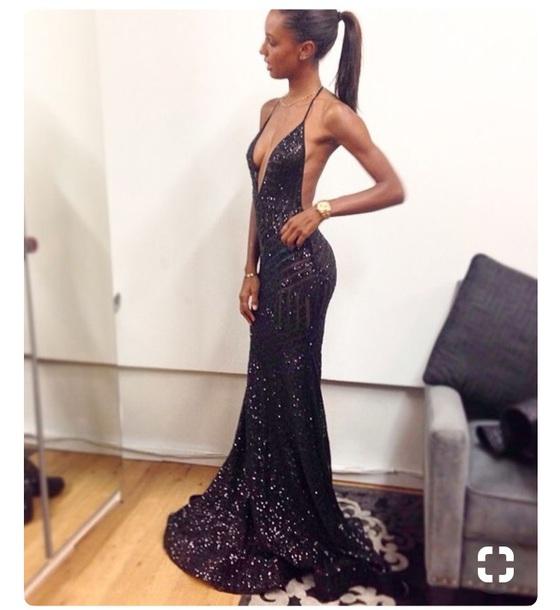 dress black glittery