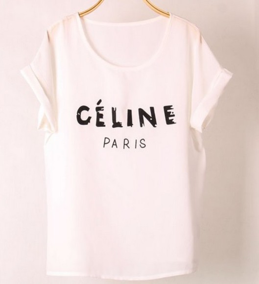white t-shirt celine paris shirt celine celine paris tshirt celine paris t shirt celine paris tee celine shirt celine paris, chiffon blouse chiffon top chiffon shirt chiffon shirts black t-shirt turquoise top casual t-shirts casual top casual tops