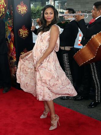 dress maternity dress zoe saldana