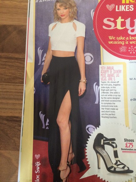 taylor swift skirt crop tops