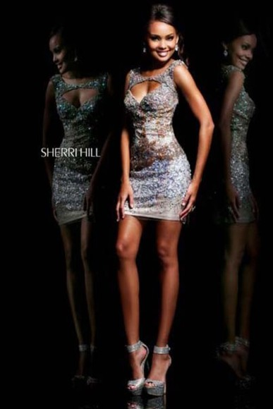 dress homecoming sequins homecoming dresses mini embellished dress embellished sequin dress mini dress glamorous glamour sherri hill dress sherri hill fabulous gorgeous sweet 16 dresses