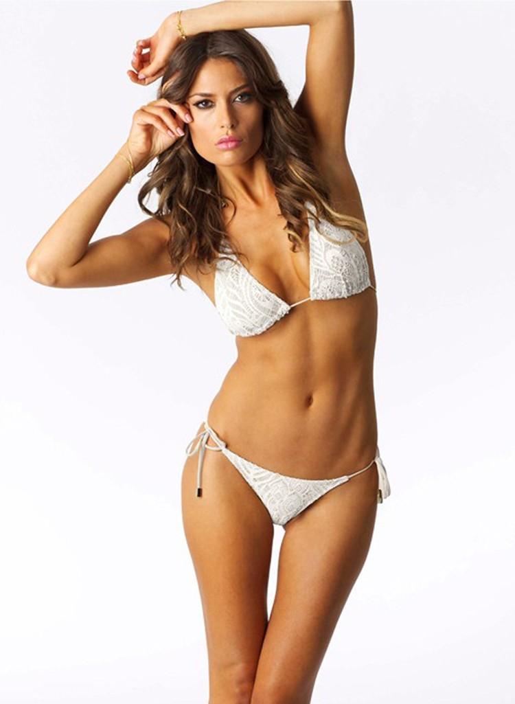White String Bikini 22