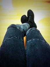 jeans,stripes balmain