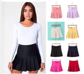 skirt white skirt pleaded