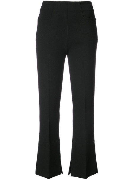 Roland Mouret women spandex black pants