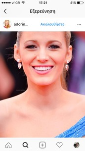 jewels,earrings,jewelry,bling,blake lively,celebstyle for less,celebrity,celebrity style,gossip girl