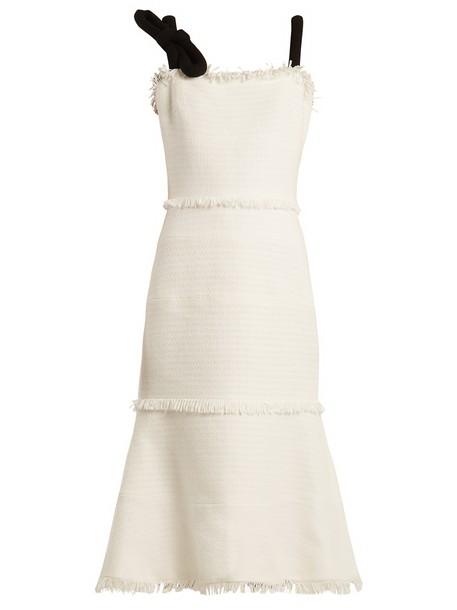 oscar de la renta dress sleeveless