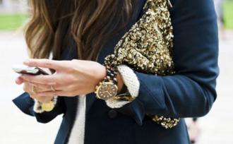 zara gold sequins bag