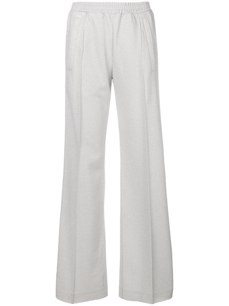 DONDUP pants track pants women grey metallic