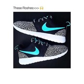 shoes,nike,roshes,turquoise,black and white,low top sneakers,roshe runs,black,grey,blue,nike roshe run,nike running shoes,nike shoes,adidas shoes,neon