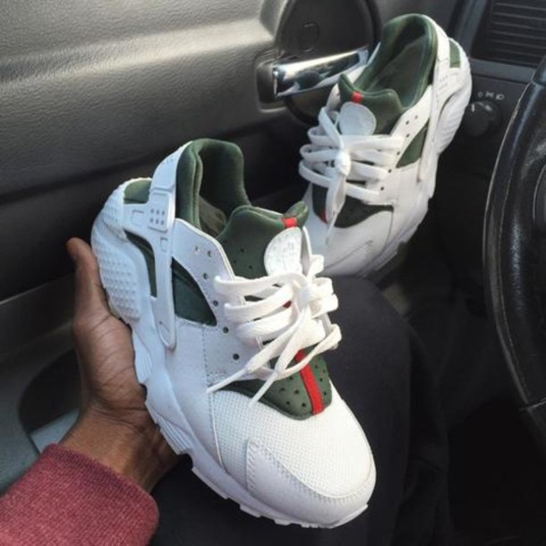 pretty nice 445e0 8792a shoes gucci huarache nike air huaraches custom huaraches gucci huaraches  nike air gucci huaraches white shoes