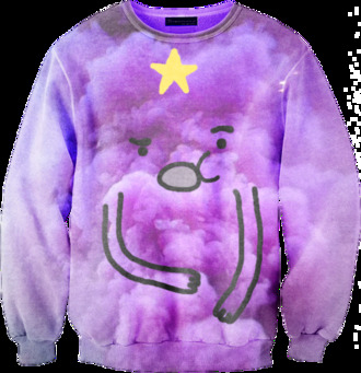 sweater cartoon purple jumper clothes