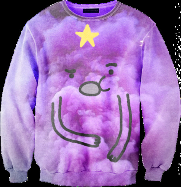 sweater cartoon cartoon purple jumper clothes