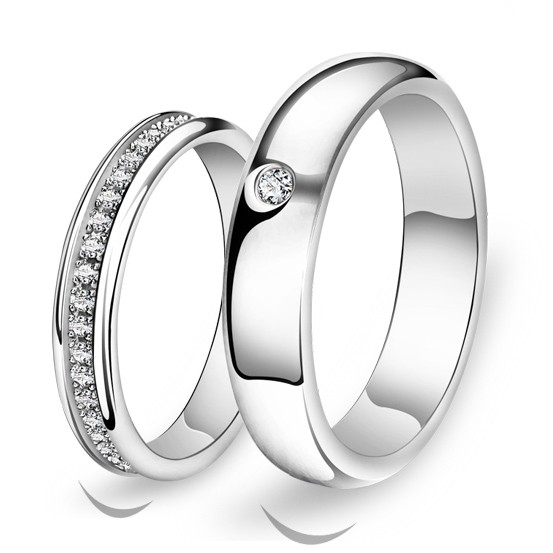 Personalized His and Hers Silver Eternity Rings Set for Two Personalized Couples Gifts | His Her Necklaces and Bracelets | Engraved Wedding Rings | Couples Clothing