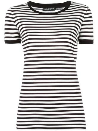 t-shirt shirt striped t-shirt women cotton black top