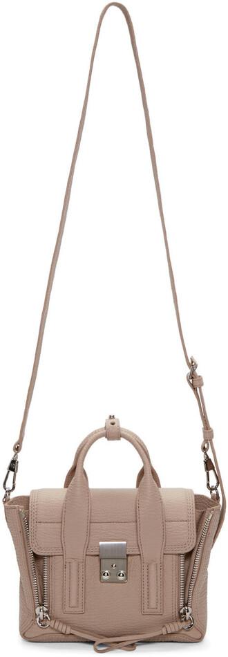 satchel mini beige bag