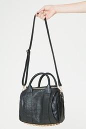 bag,brandy melville,alexander wang,rocco,black bag