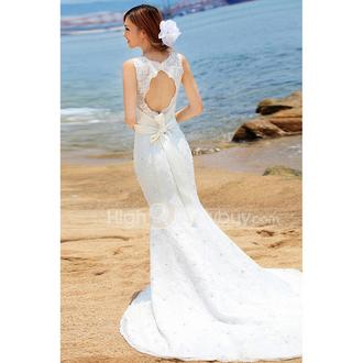 dress elegant dress luxurious wedding dress white skirt white backless wedding dress beach love romantic wedding dress