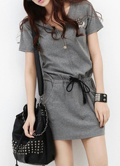 dress,cute,boho dress,tunic dress,tunic,tunic top,grey,gray lace bodysuit,pockets,belt,waist belt,girly,girl,girly wishlist,girly dress,girly outfits tumblr,outfit,outfit idea,summer outfits,fall outfits,tumblr outfit,winter outfits,office outfits,cute outfits,urban outfitters,date outfit,top