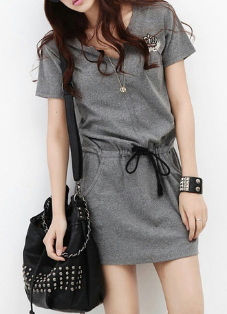 dress cute boho dress tunic dress tunic tunic top grey gray lace bodysuit pockets belt waist belt girly girl girly wishlist girly dress girly outfits tumblr outfit outfit idea summer outfits fall outfits tumblr outfit winter outfits office outfits cute outfits urban outfitters date outfit top