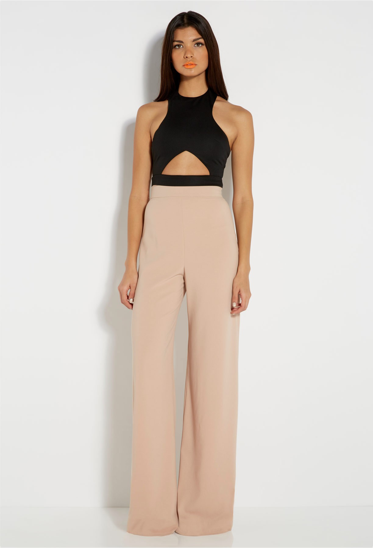 Belair Nude Wide Leg Trousers