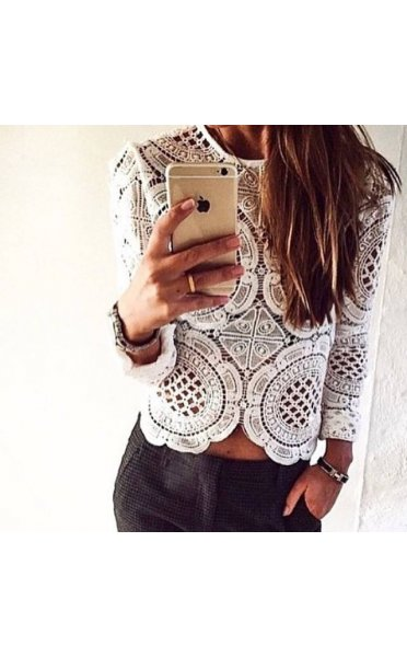 Limited edition blogger style lace top