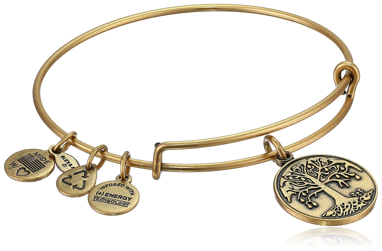 "Amazon.com: alex and ani bangle bar ""tree of life"" rafaelian gold finish expandable bracelet: jewelry"