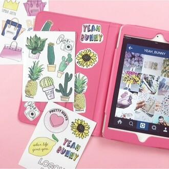 home accessory yeah bunny ipad stickers tumblr