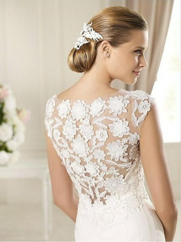 dress lace prom dress white