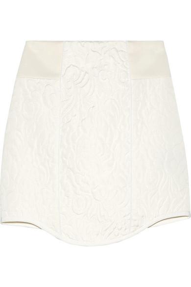 Tibi|Katrin paneled matelassé mini skirt|NET-A-PORTER.COM