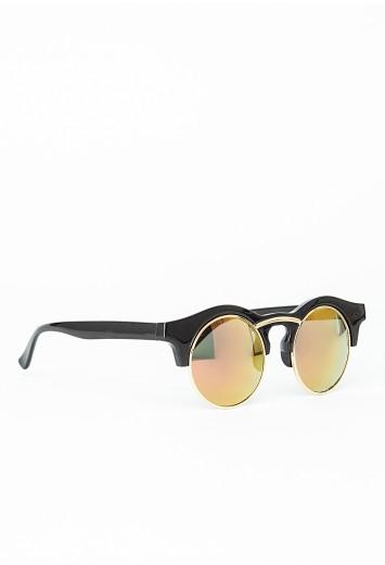 Missguided - Benitta Black Mirrored Sunglasses