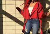 jacket,red,kayture,miley cyrus