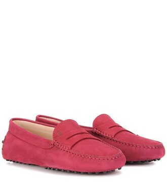 loafers suede purple shoes