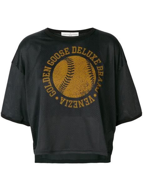 GOLDEN GOOSE DELUXE BRAND top mesh top mesh women cotton print black