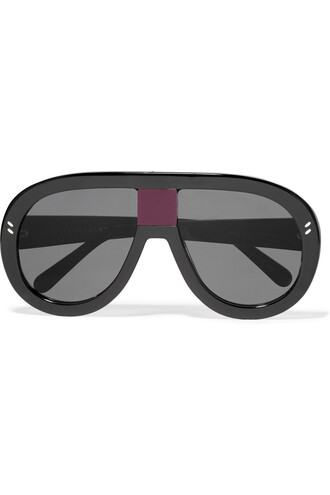 sunglasses mirrored sunglasses black purple