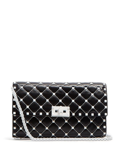 Valentino leather clutch quilted clutch leather black bag