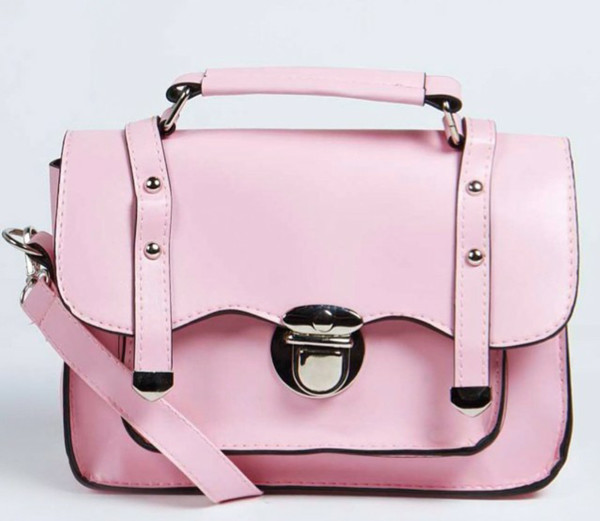 bag pink satchel