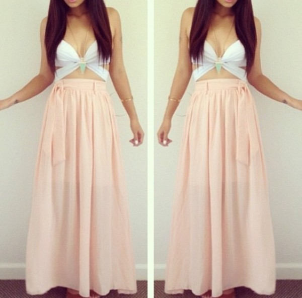 tank top skirt jhene aiko free long skirt
