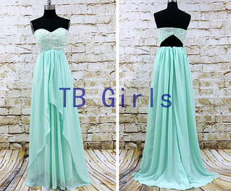 dress prom dress mint prom dress bridesmaid party dress