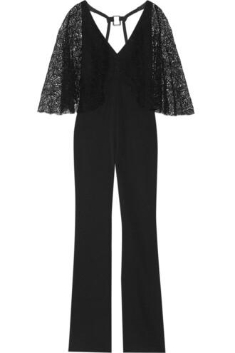 jumpsuit lace silk black
