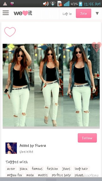 white pants jeans outfits megan fox