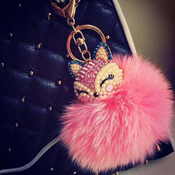 bag bag charm fur pompom fur ball bag charm fur pom pom
