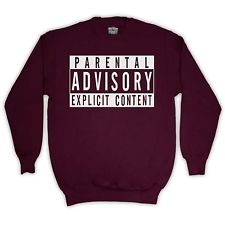 WARNING UNOFFICIAL PARENTAL ADVISORY SWEATER JUMPER TOP ADULTS & KIDS SIZES COLS | eBay