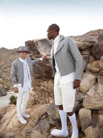 coat menswear style cream hipster menswear mens fedora