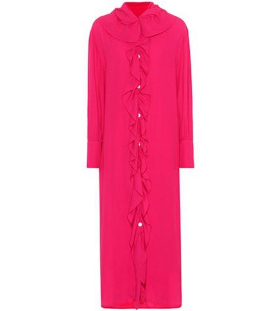 MARNI dress shirt dress midi pink