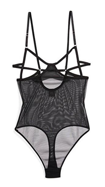 only hearts bodysuit black underwear